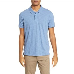 NEW Vince Classic Slim Fit Polo in Still Water